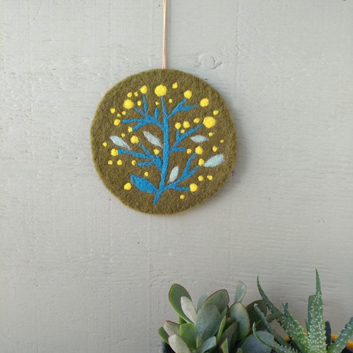 Tableau textile Mimosa