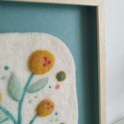 Tableau textile Dahlia